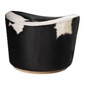 Black and White Cow Foot Stools