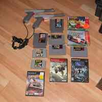 Lot de jeux NES, SNES, N64, PS2