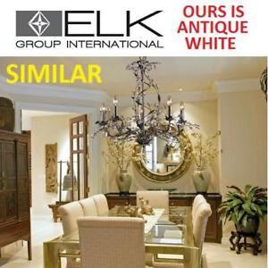 NEW ELK LIGHTING 5 LIGHT CHANDELIER 18113/5 191229141 CIRCEO ANTIQUE WHITE