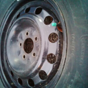 Toyota RAV4 rims, tires. Steel rims like new!