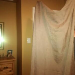 Curtains Light Mocha Color Semi Sheer