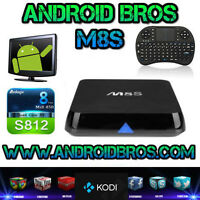 ANDROID BROS® TV BOX *M8S QUAD CORE*FREE KEYBOARD*FULLY LOADED*
