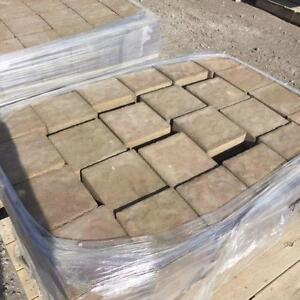 Paving stones and retaining wall stone blowout