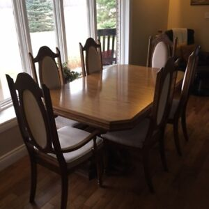 Oak Formal Dining Room Set - 10pc