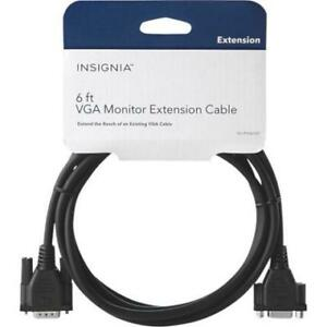 NEW Insignia 3m (10 ft.) VGA Extension Cable (NS-PV10509-C) - Bl