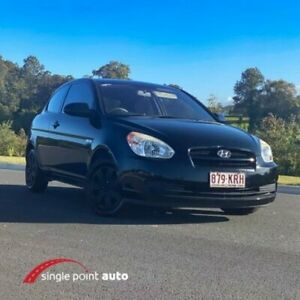 2007 Hyundai Accent MC Black 5 Speed Manual Hatchback Chevallum Maroochydore Area Preview