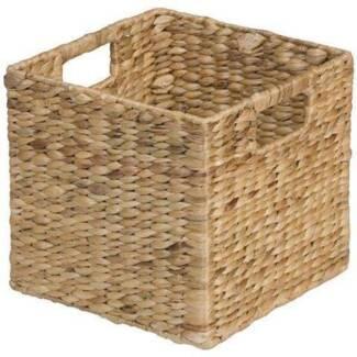 Five square wicker storage baskets - suit cube shelving etc Wattle Grove Kalamunda Area Preview