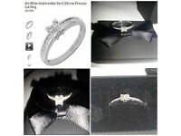 9ct White Gold Invisible Set 0.33ct Ring