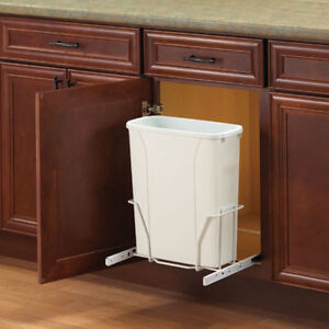 New Single In-Cabinet Pull Out Bottom Mount Trash Garbage Can