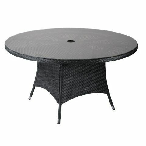 panama 6 seater round rattan table from homebase (table only)   in