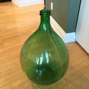 Two 54L Italian Green Demijohns