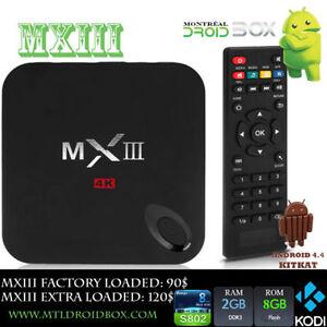 MXIII MX3 Android TV Box 4.4 4K Quad Core S802 2GB RAM KODI