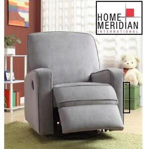 NEW SWIVEL GLIDER RECLINER DS-912-006-177 219236380 HOME MERIDIAN SUTTON ZEN GREY