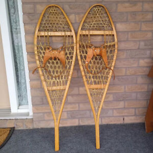 """Snowshoes Traditional Wooden Huron ( 14""""x 48"""" )"""