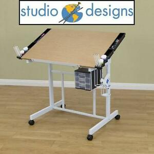 NEW* STUDIO DESIGNS CRAFT STATION DELUXE CRAFT STATION, WHITE/MAPLE 102042563