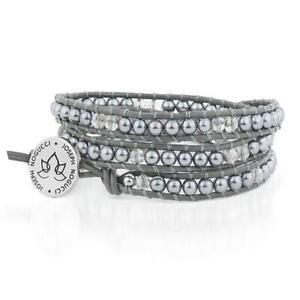 50% OFF All Jewellery - Starry Night Hematite & Blue Crystal | Leather Wrap | Stone LotusBracelet
