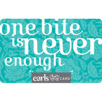 50 dollar Earls gift card for 40