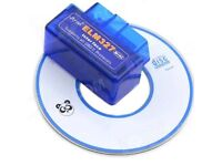 BRANDNEW MINI ELM327 OBD2 BLUETOOTH DIAGNOSTIC CAR AUTO INTERFACE SCANNER comes with CD.