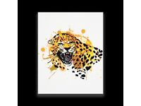 Really Liven Up Your Home - Snarling Jaguar - Makes Great Wall Art