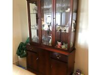 Traditional Display Cabinet in Dark Wood