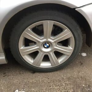 BMW winter tires+wheels 225 45 R17 front&235 45 R17 rear&1 spare