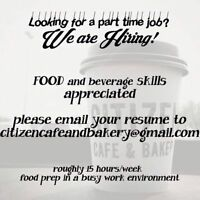 Citizen Cafe & Bakery - Hiring Part Time