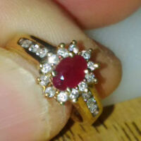 Size 5 - Diamond and Ruby Engagement Ring