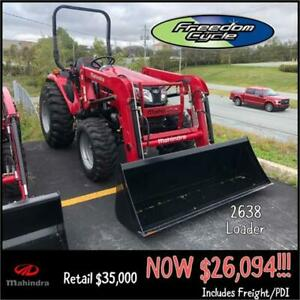 MAHINDRA 2638 HST TRACTOR - SAVE $8900!!!