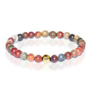50% OFF All Jewellery - Determination | Gold Essence Red Picasso Jasper Bracelet