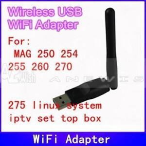 IPTV MAG254 AND PC USB WIFI ADAPTER B/G/N 150 MBPS WITH ANTENA