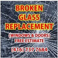 Broken and Foggy Glass Replacement 416-737-7684