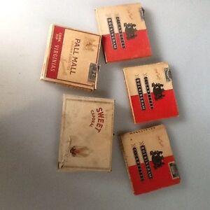 Vintage Cigarette Packages