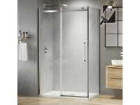 Shower Enclosure 1200X800mm. 8mm Frameless easy clean sliding door. Boxed/Brand New (unopened)