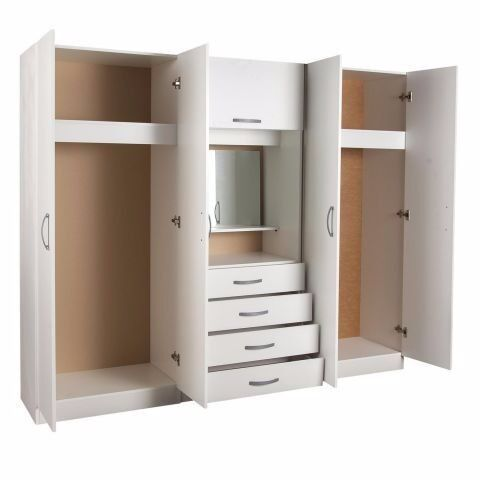 100 Guaranteed Price Brand New Bedroom Fitment With 4 Door Wardrobe Dresser Mirror Same Day