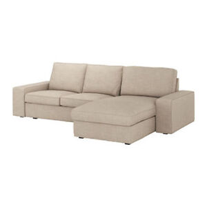 IKEA - KIVIK Loveseat and chaise (grey/gris)