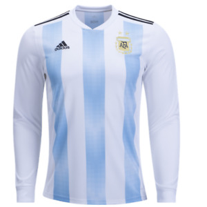 Argentina Home 2018 Official Adidas Long Sleeve Jersey On Sale fb1ee3361