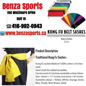 KUNG FU UNIFORM, KUNG FU GI , KUNG FU SASHES ON SALE ONLY @ BENZA SPORTS