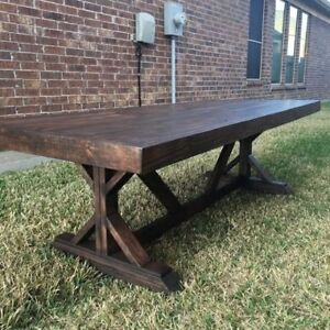 Custom Restoration Hardware type tables and benches