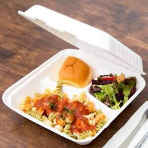 Biodegradable, Compostable 3 Compartment Takeout Container 200/Case*RESTAURANT EQUIPMENT PARTS SMALLWARES HOODS AND MORE