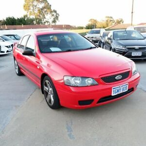 2006 Ford Falcon BF SR Red 4 Speed Sports Automatic Sedan St James Victoria Park Area Preview