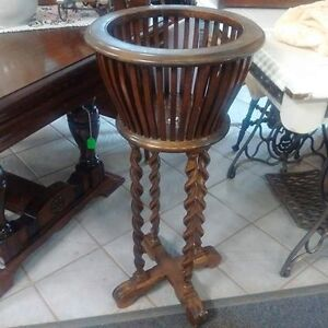 Antique Wood Plant Stand