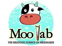 Moo Lab Rotherham is Hiring Part time, Full time staff and Drivers also trainee Managers.