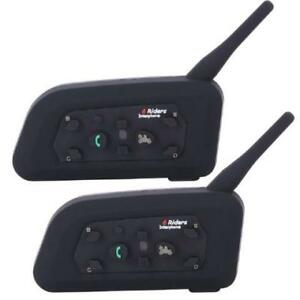 BTI Interphone Bluetooth Motocycle 2 Pieces Intercom System - V6