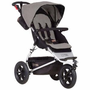 New Mountain Buggy Urban Jungle Stroller -Silver -Model# UJ_V3_5
