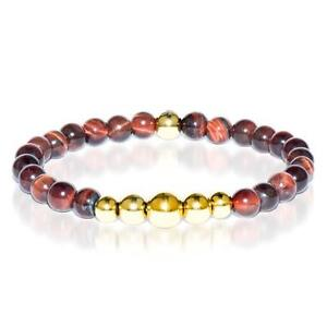 50% OFF All Jewellery - Passion | Gold Aura Red Tiger's Eye Bracelet