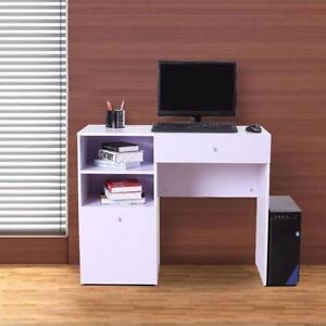 White Modern Wooden Computer Desk / Laptop Home Office Student