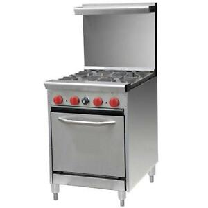 4 BURNER GAS RANGE WITH OVEN - BRAND NEW