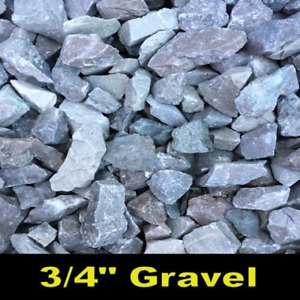 Limestone gravel triple mix river rock