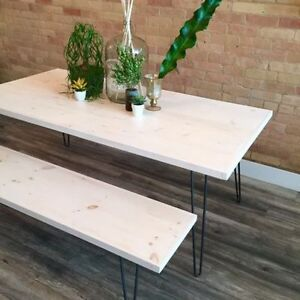 Hairpin Coffee / Desk / Console / Dining Table / Bench / Stool Kitchener / Waterloo Kitchener Area image 8