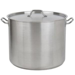 60 Qt. Heavy-Duty Stainless Steel Stock Pot with Cover *RESTAURANT EQUIPMENT PARTS SMALLWARES HOODS AND MORE*